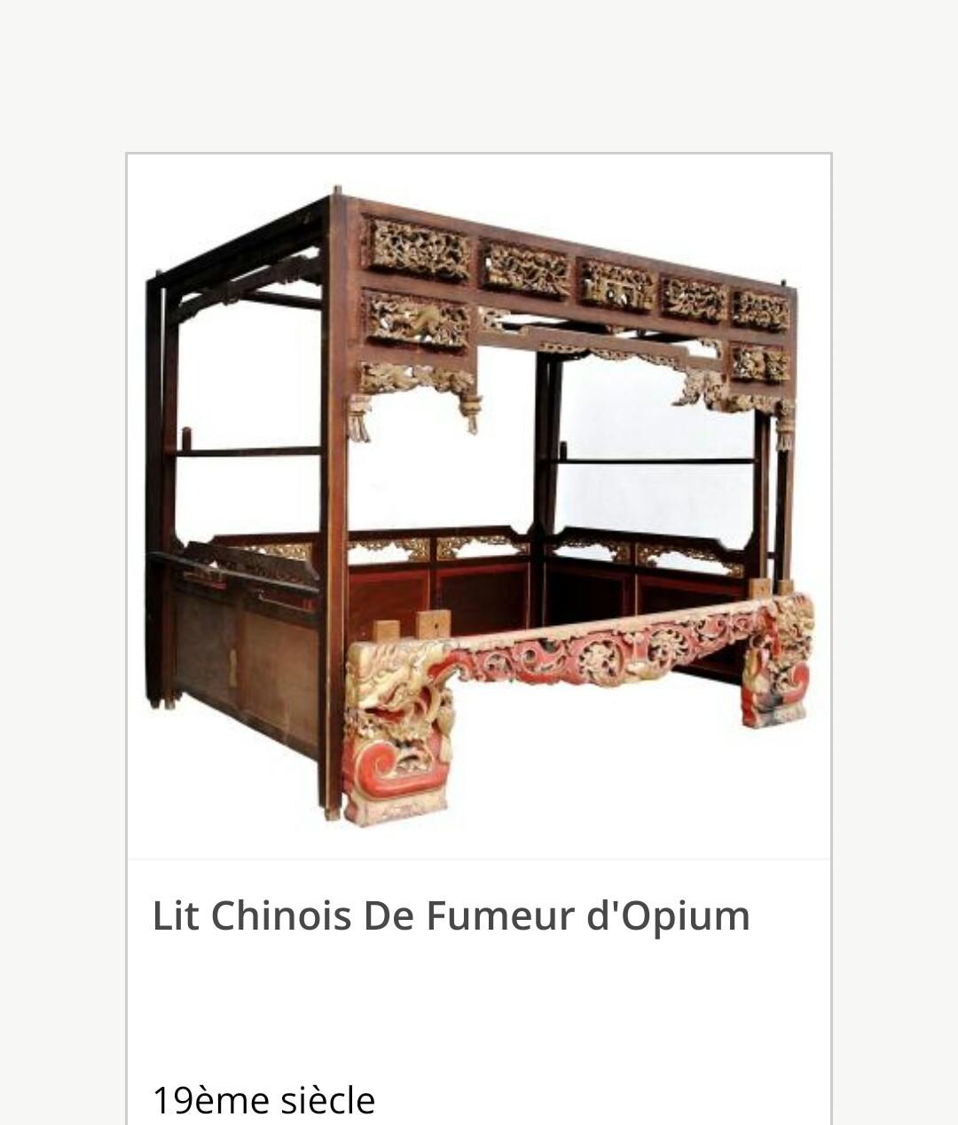 vend lit chinois baldaquin style mandarinxix sicle - Lit Chinois
