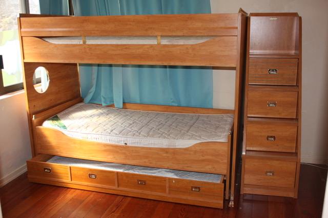 lit superpos gautier 3 vrais couchages escalier rangement big ce. Black Bedroom Furniture Sets. Home Design Ideas